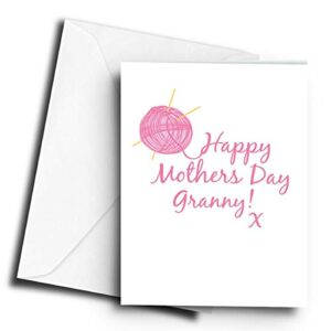 Happy Mothers Day Granny! x Knitting – A5 Greetings Card