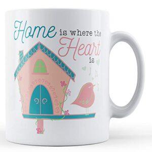 Home Is Where The Heart Is (Birdhouse) – Printed Mug
