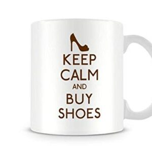 Keep Calm And Buy Shoes Mug Design 29 Colours (Brown) – Printed Mug
