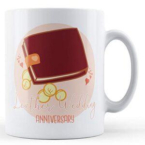 Leather Wedding Anniversary (3rd) – Printed Mug