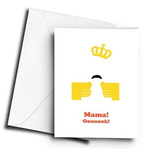 Mama! Ooooooh! Freddie Mercury – A5 Greetings Card