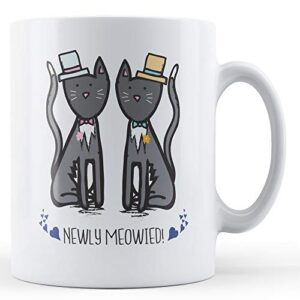 Newly Meowied! (Two Male) – Printed Mug