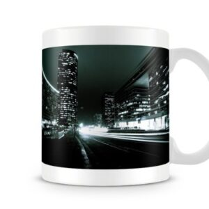 A City At Night Cityscape – Printed Mug