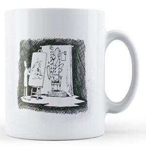 Banksy Artist Line Drawing [Office Product] – Printed Mug