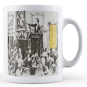 Banksy Auction Morons – Printed Mug