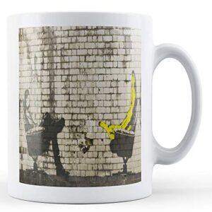 Banksy Bananna On Chair 2 – Printed Mug
