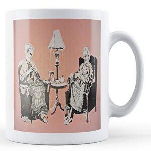 Banksy Knitting Punk Grannies 3 – Printed Mug