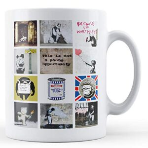 Banksy Montage Of Popular Images 5 – Printed Mug
