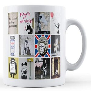 Banksy Montage Of Popular Images 6 – Printed Mug