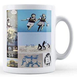 Banksy Montage Of Popular Images 2 – Printed Mug