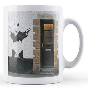 Banksy Panda With Guns – Printed Mug