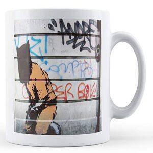 Banksy Terrorist With Sack On Head – Printed Mug