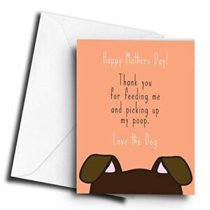 Thank You for Feeding me and Picking up My Poop Love The Dog – A5 Greetings Card
