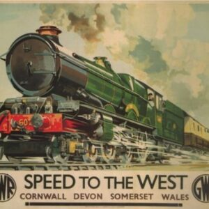 Vintage Cornwall Devon Somerset Wales GWR VTARP088 Matt Satin Canvas A4 A3 A2 A1