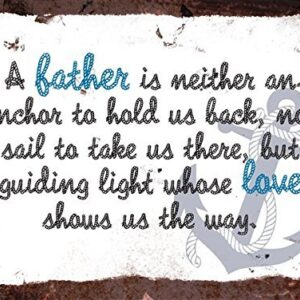 A Fathers Love Shows Us The Way – Vintage Metal Wall Sign