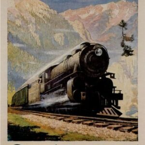 Vintage North Coast Limited Railway VTARP068 Matt Satin Canvas A4 A3 A2 A1