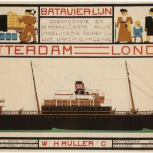 Vintage Rotterdam Londen Railways VTARP075 Matt Satin Canvas A4 A3 A2 A1