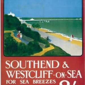 Vintage Southend & Westcliff on Sea Railways VTARP083 Matt Satin Canvas A4 A3 A2 A1