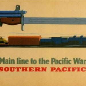 Vintage Southern Pacific Lines Railway VTARP086 Matt Satin Canvas A4 A3 A2 A1