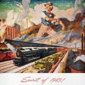 Vintage Spirit of 1943 Trains Railways VTARP089 Matt Satin Canvas A4 A3 A2 A1