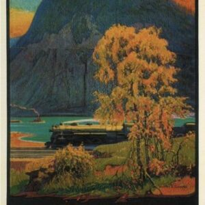 Vintage Storm King New York Railways VTARP091 Matt Satin Canvas A4 A3 A2 A1