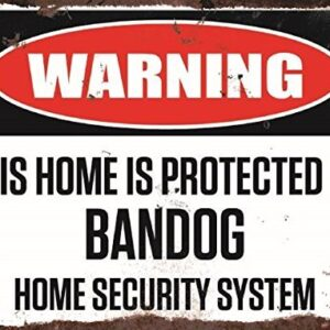 Warning This Home Is Protected By Bandog Home Security System Medium Metal Wall Plate