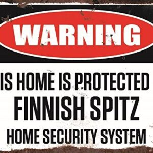 Warning This Home Is Protected By Finnish Spitz Home Security System Small Metal Wall Plate