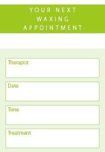 Waxing Appointment Client Cards 250 per Pack