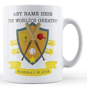 Worlds Greatest Baseball Player Personalised – Printed Mug