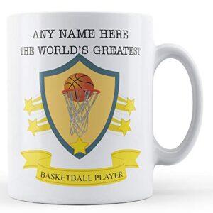 Worlds Greatest Basketball Player Personalised – Printed Mug